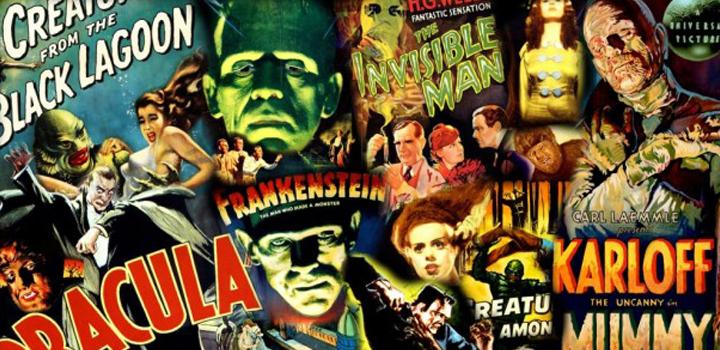 Cult Horror Movie Collage