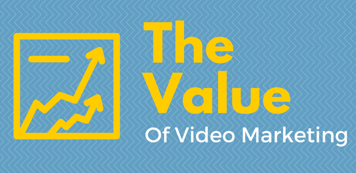 The Value of Video Marketing text with analytics graphic