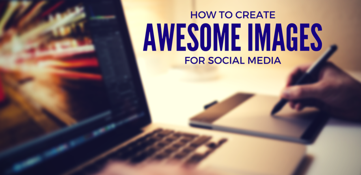 How to Create Awesome Images for Social Media - laptop running Photoshop