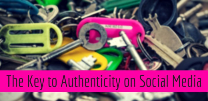 authenticity on social media above image of keys