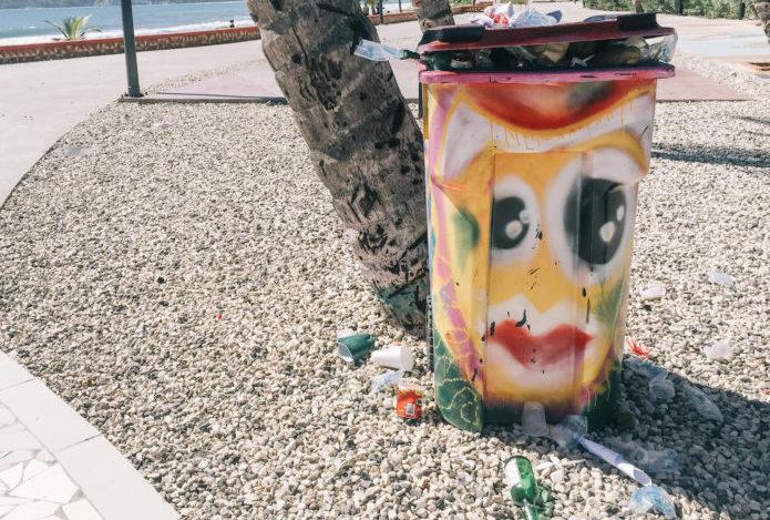 Plastic Waste - Overflowing Trash